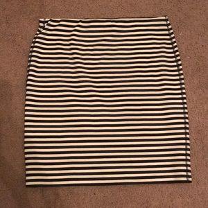 Professional Skirt - Old Navy Black & White Stripe